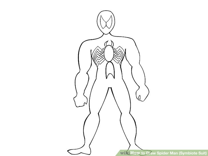 728x546 How To Draw Spider Man (Symbiote Suit) (With Pictures)