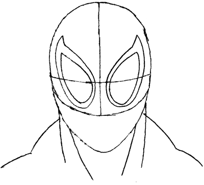 400x364 Drawn Spider Man Easy Draw
