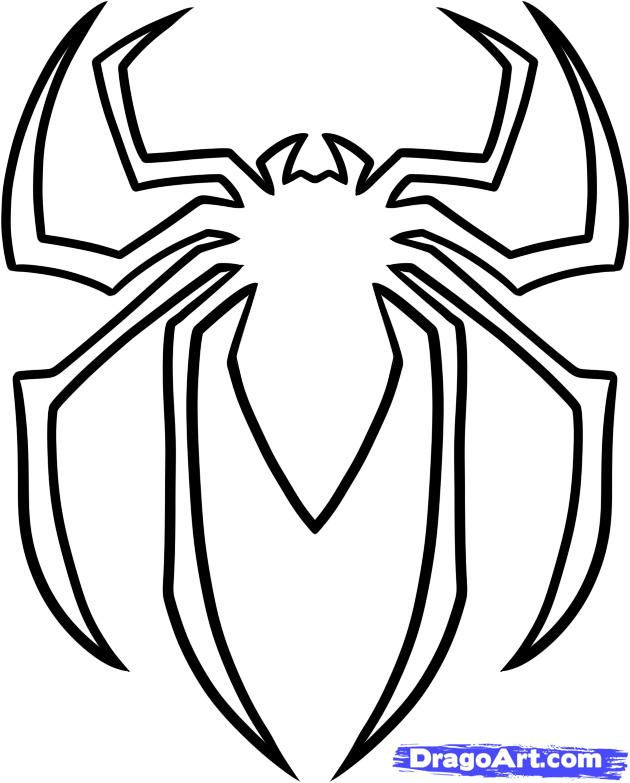 630x783 how to draw the spiderman logo spiderman symbol step by step