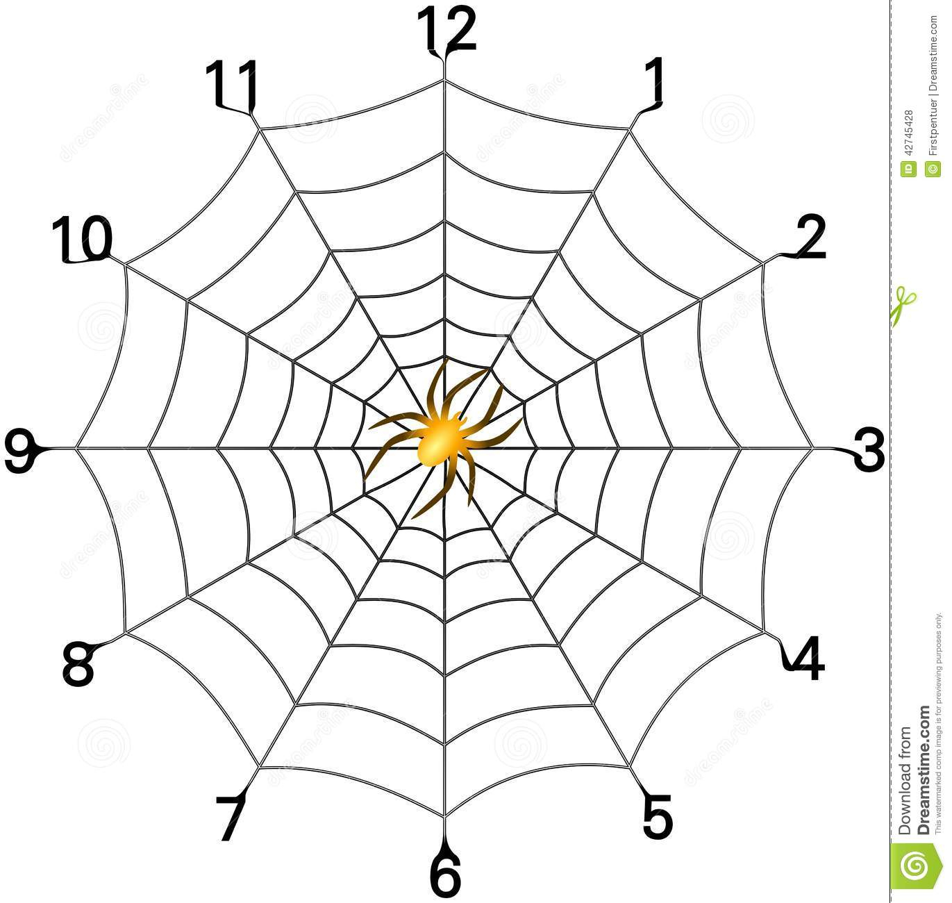 1371x1300 Simple Spider Web Drawing Simple Spider Web Clock Face With Golden