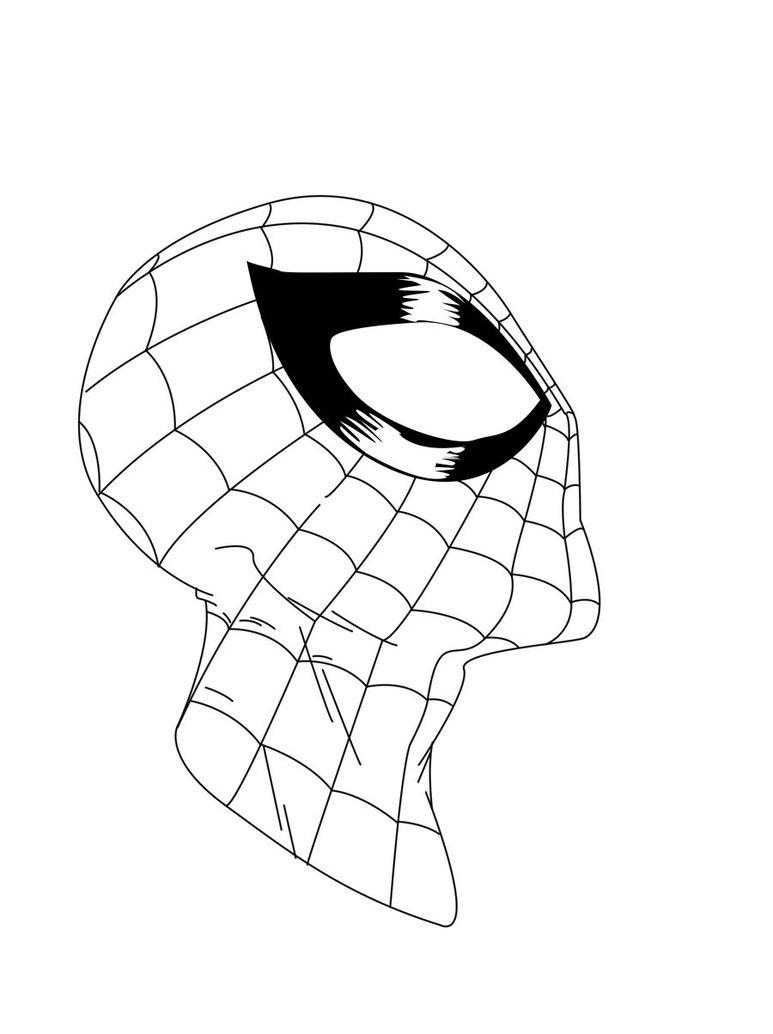 773x1034 Spider Man Face Sketch