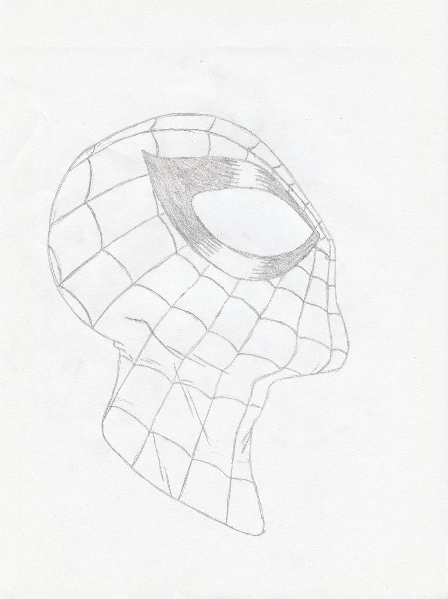 900x1204 Spider Man Face Sketch By Roach97