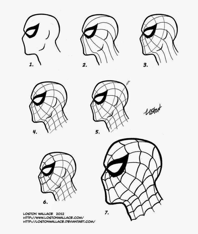 822x972 Spider Man Mask Diy