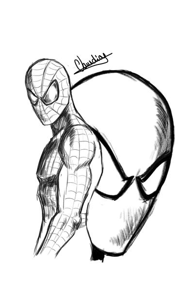 400x584 Spiderman Sketch By Claudiojose