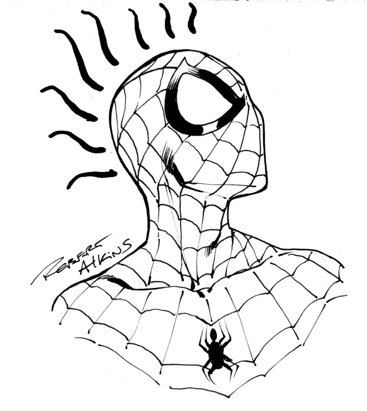 750x840 Drawing Clipart Spiderman