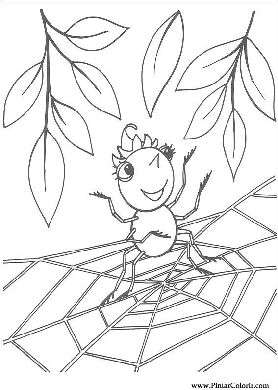 567x794 Drawings To Paint Amp Colour Miss Spider