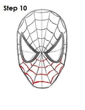 300x388 Gallery Spiderman Drawing Face,