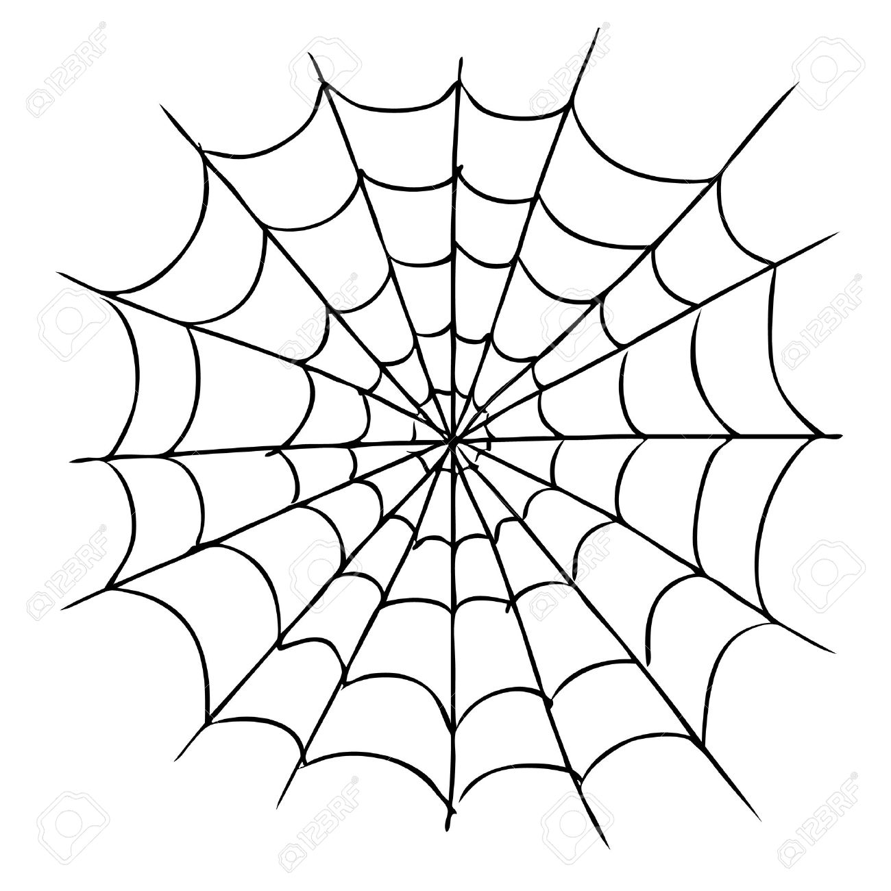 1300x1300 Freehand Sketch Illustration Of Spider Web, Doodle Hand Drawn