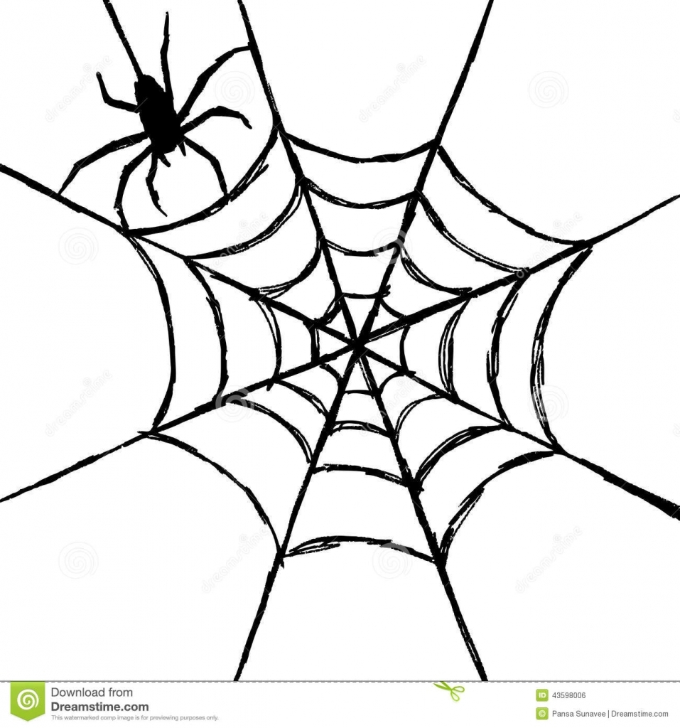 957x1024 How To Draw A Spider Web Hand Draw Sketch Spider Web Stock Photos