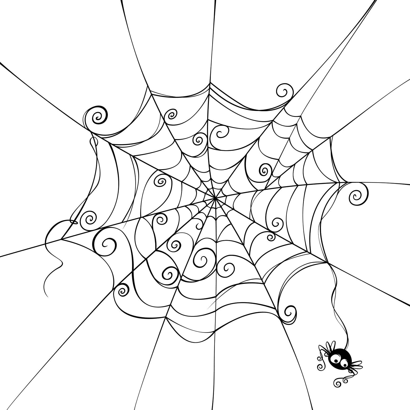 1733x1733 Spider Web Cartoon Drawing Wild West Drawing Back Gt Pics