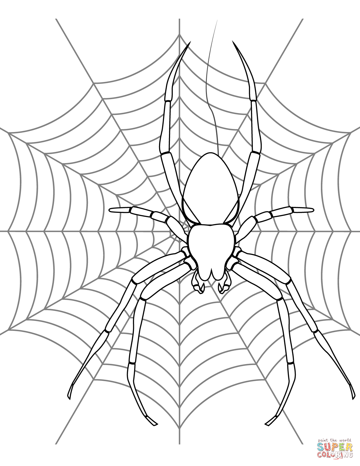 1159x1500 Spider On Its Web Coloring Page Free Printable Coloring Pages