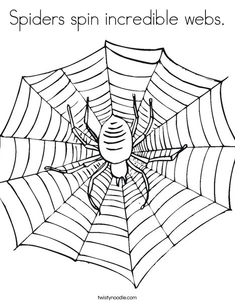 468x605 Spiders Spin Incredible Webs Coloring Page