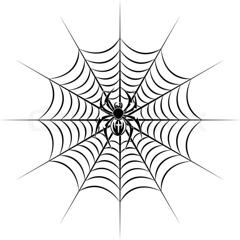 800x800 Tribal Spider Web Tattoo Spider Web Tattoo Vector