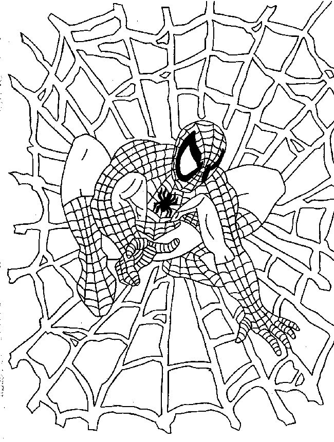 650x861 Lovely Spider Man Coloring 87 About Remodel Line Drawings