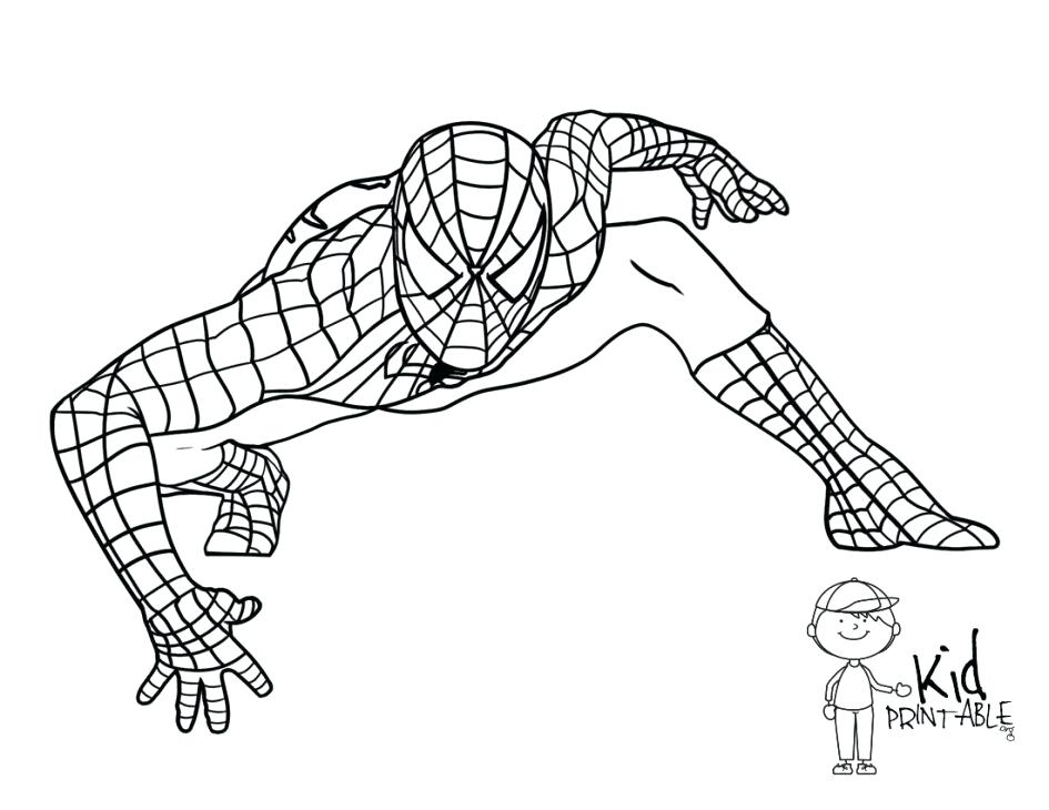 945x730 Spider Man Images Colouring Pages