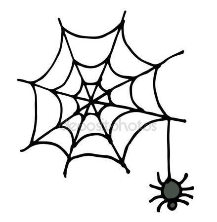 439x450 Vector Sketch. Spider Stock Vector Marinka