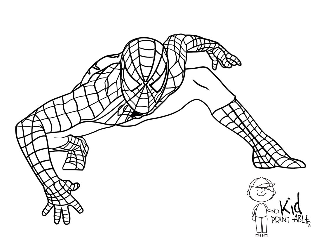 1100x850 Printable Coloring Pages Spiderman 3 Best Of Free