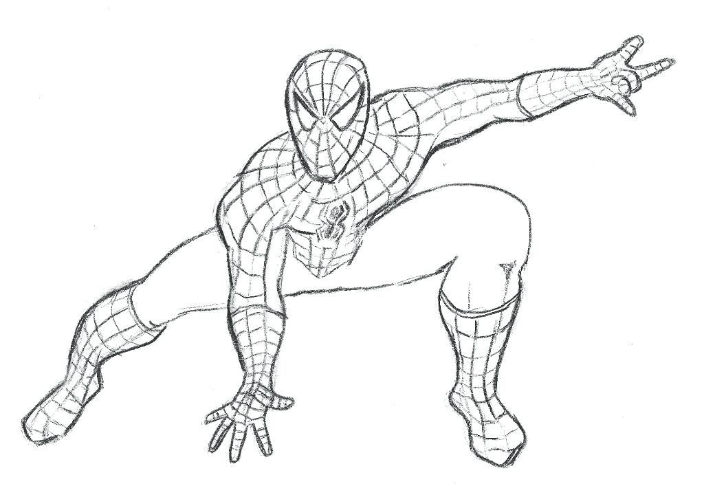 1024x707 Coloring Pages Of Spiderman Pin Spider Man Page 3