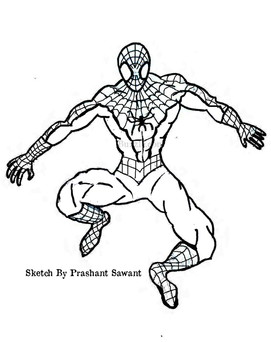 Spider Man Cartoon Drawing At Getdrawings Free Download
