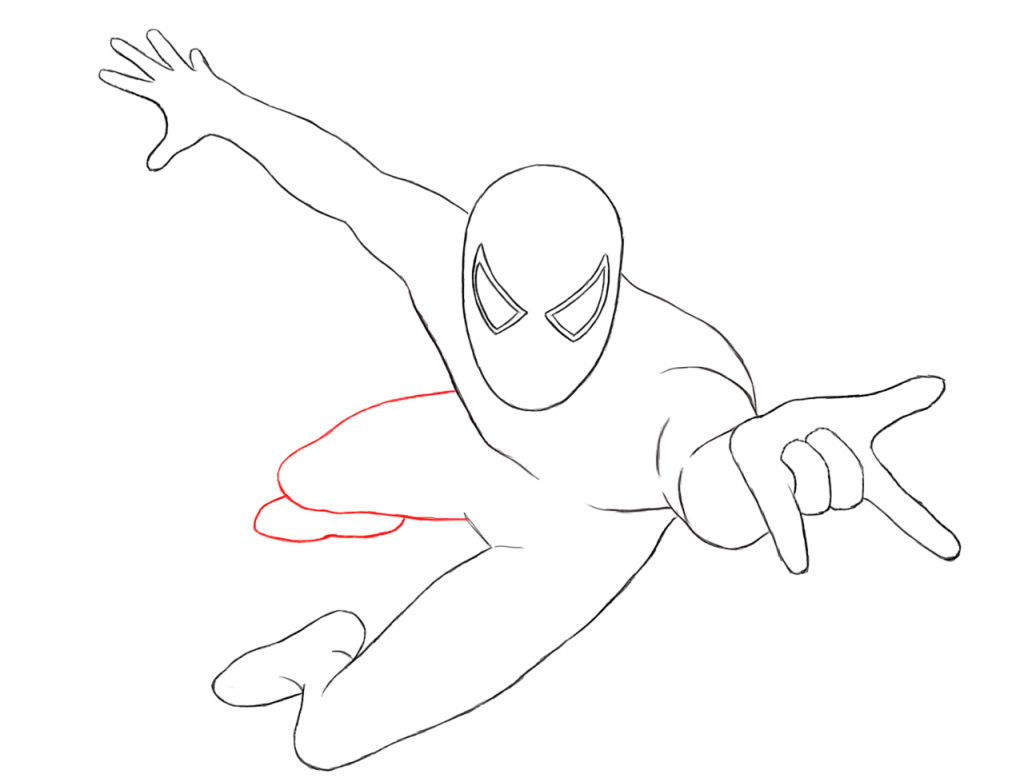 1024x778 Easy Spiderman Drawing