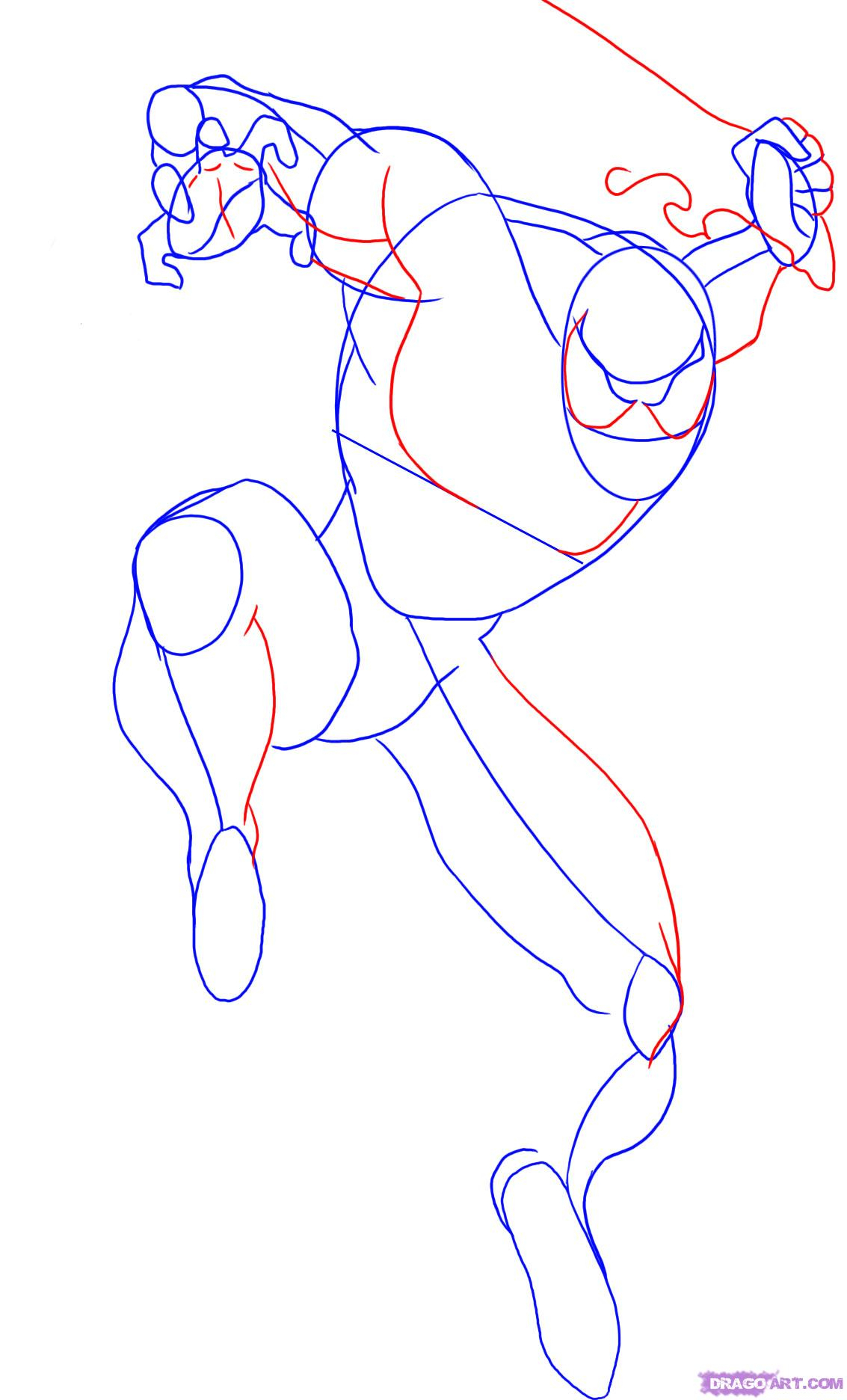 1133x1872 How To Draw Spiderman Step By Step Easy