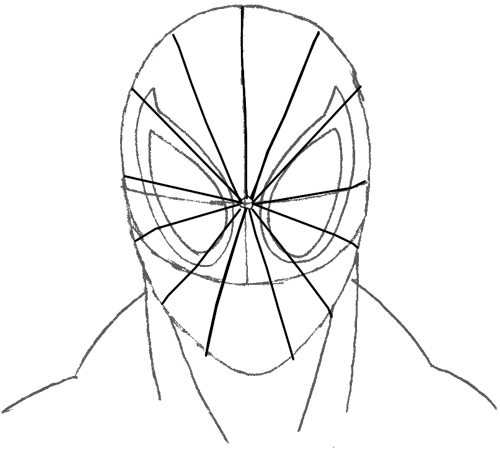 500x455 How To Draw Spiderman With Easy Step By Step Drawing Lesson