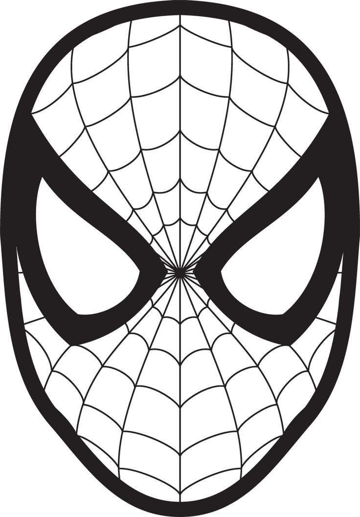 736x1055 Spiderman Clipart Easy