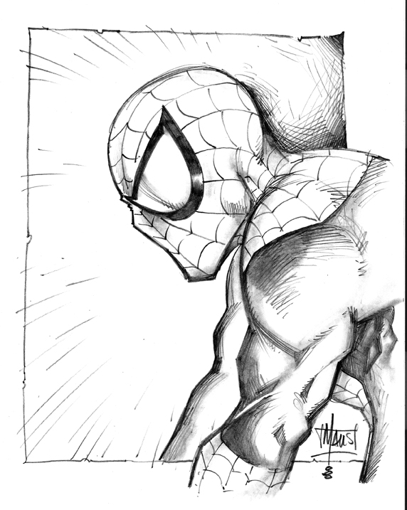 572x717 Spiderman Drawings In Pencil Easy