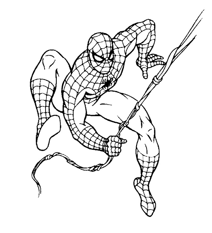 676x743 Top 20 Spiderman Coloring Pages Printable