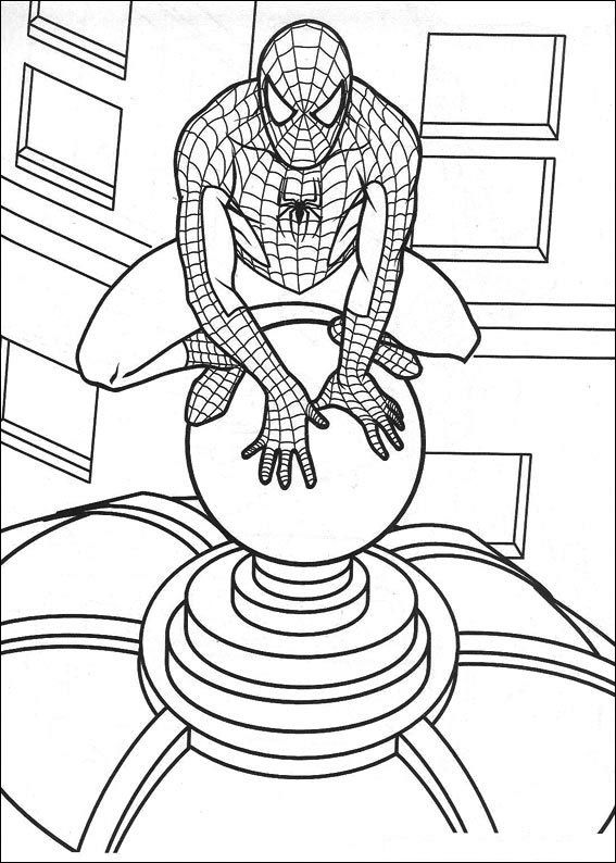 Spider Man Line Drawing