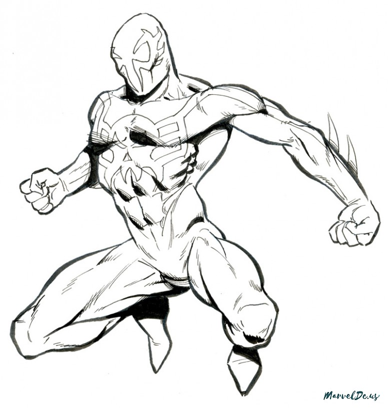 Spider Man Pencil Drawing