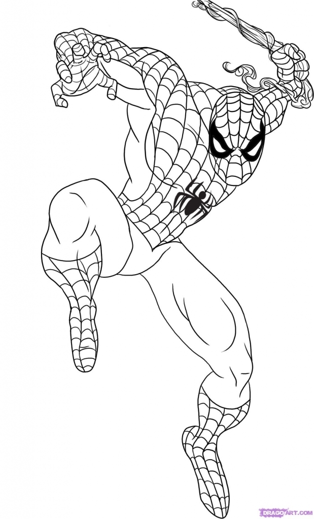 619x1024 How To Draw Spider Man How To Draw Spiderman Step Step Marvel