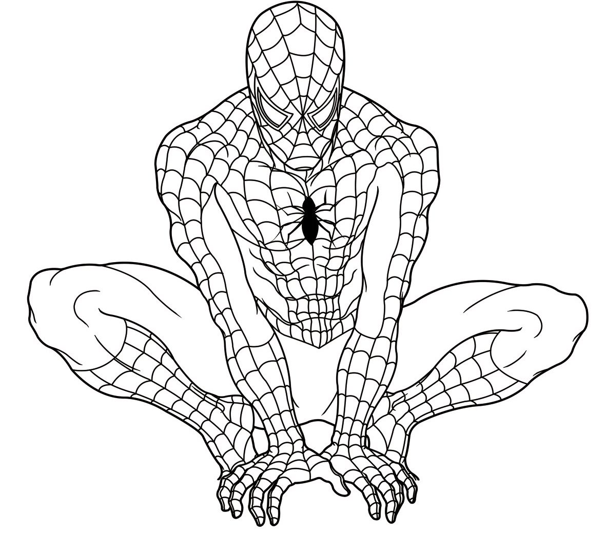 1181x1080 Printable Spiderman Coloring Pages With Top Free Avenger General