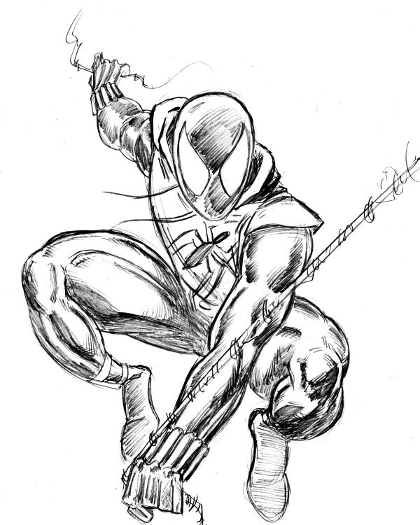 600x750 Scarlet Spider Sketch By 3xlt