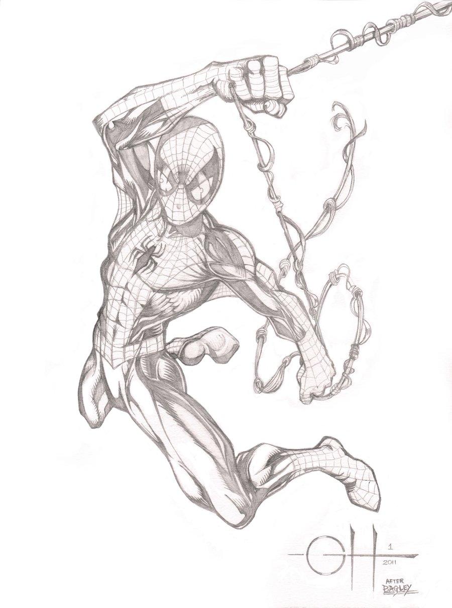 900x1209 Spider Man (Pencils After Bagley) By Rhixart