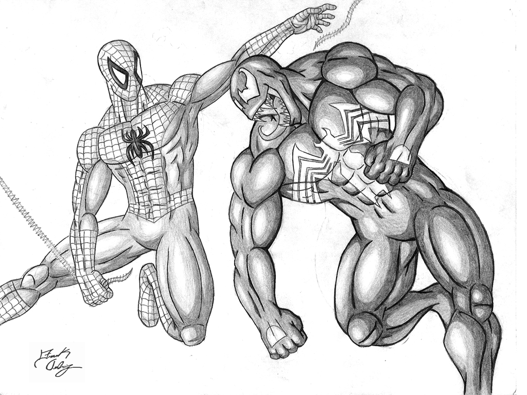 1024x768 Spider Man Vs. Venom By Dsx100
