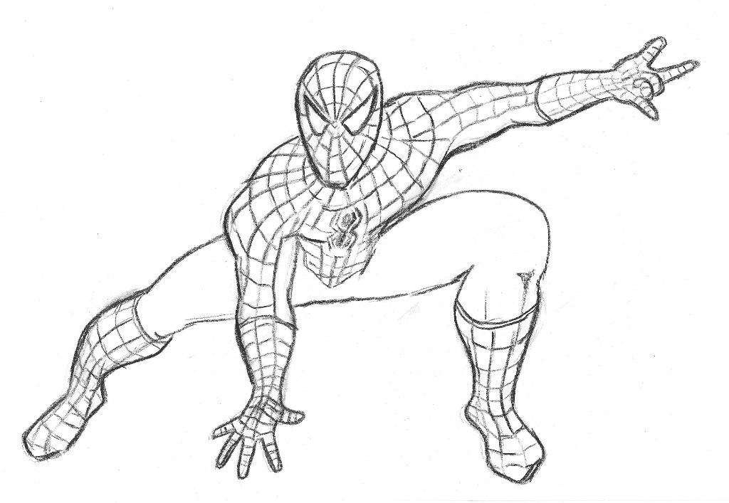 Spider Man Pencil Drawing at GetDrawings.com | Free for personal use ...