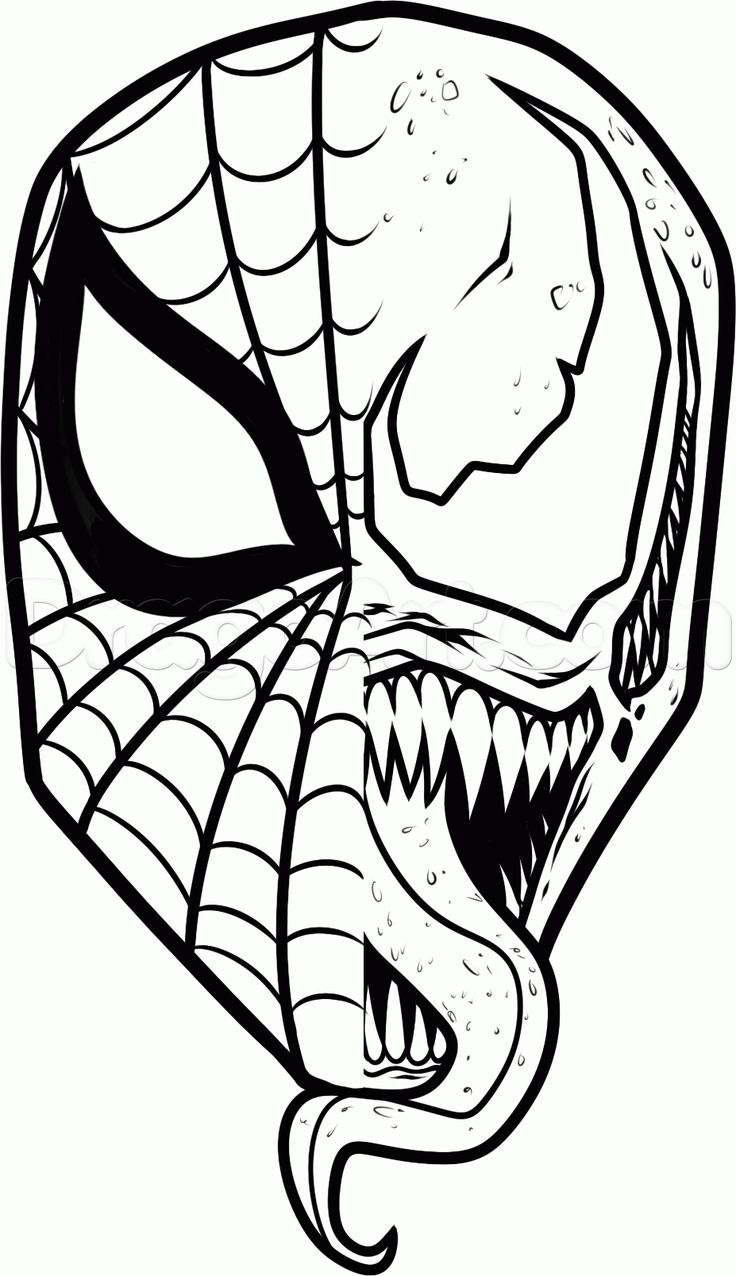 736x1276 Spiderman Face Drawing Ultimate Spiderman Face Drawings In Pencil