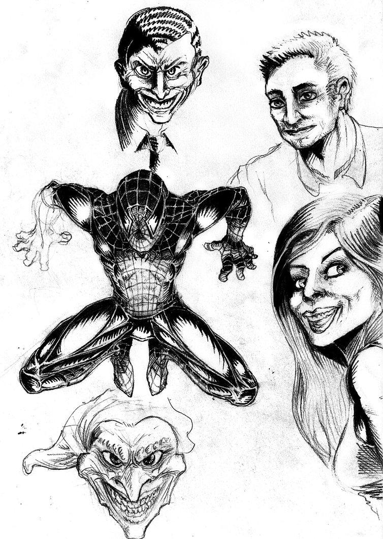 754x1060 Spiderman Comic Sketch