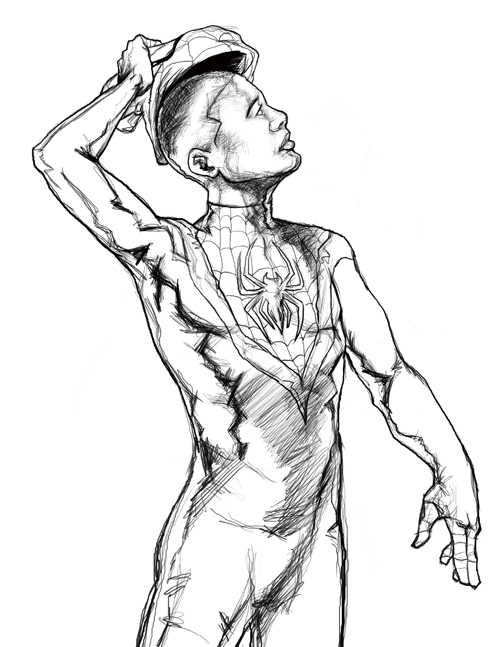 500x647 Ultimate Spider Man Miles By Paulblim