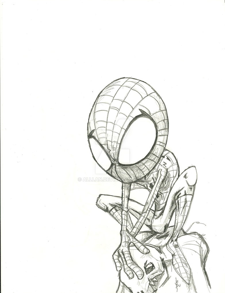 783x1020 The Pencil Spider Man By Alllan
