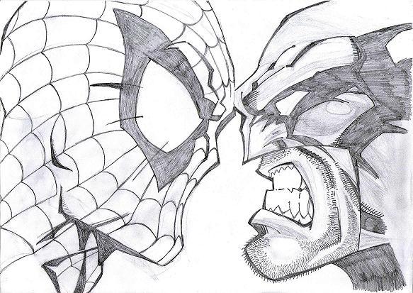 583x413 Black Amp White Spiderman Sketches Sketch Spiderman