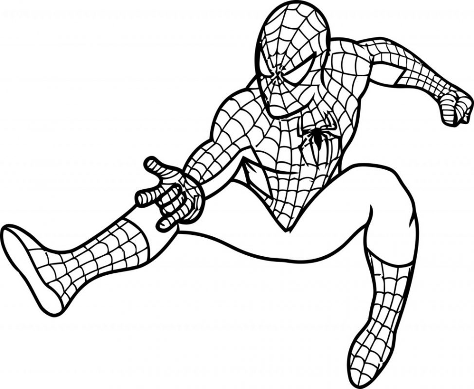 974x800 Coloring Pages Spiderman Drawing Easy Spiderman Drawing Easy