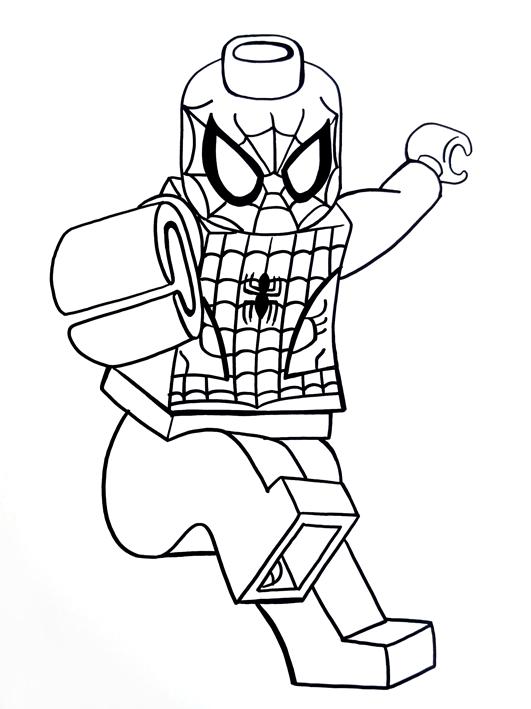2300x2933 Drawn Spiderman Coloring Sheet 531x709 Lego