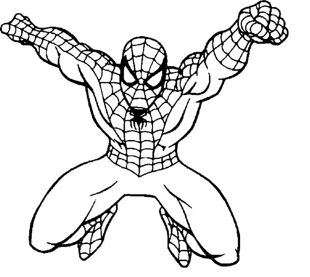 612x546 Extraordinary Spiderman Coloring Page 60 For Your Free Colouring