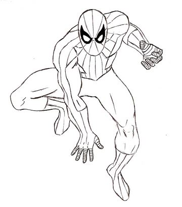 360x411 How To Draw Spiderman