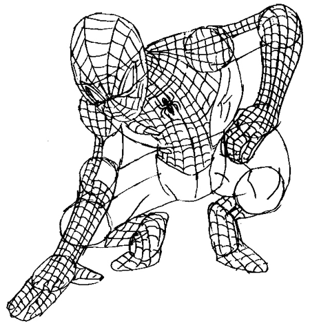 450x475 How To Draw Spiderman With Simple Steps Drawing Tutorial