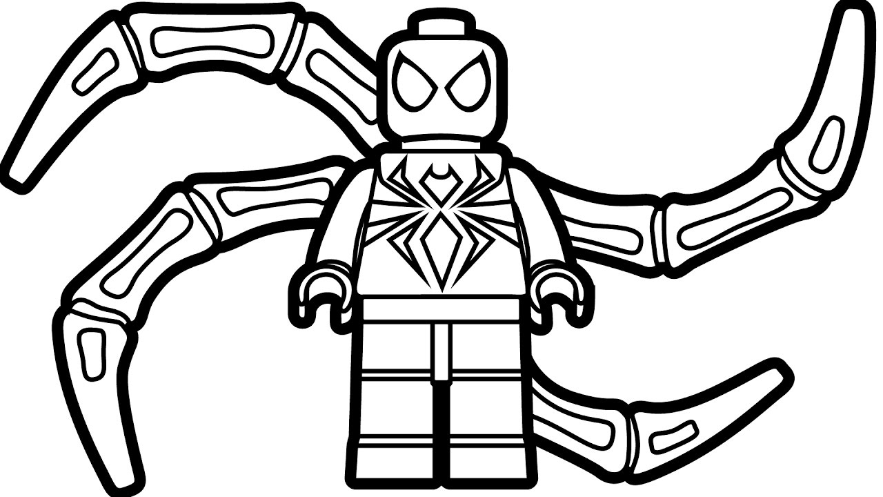 1280x720 Important Coloring Pages Spiderman Lego Printable Image