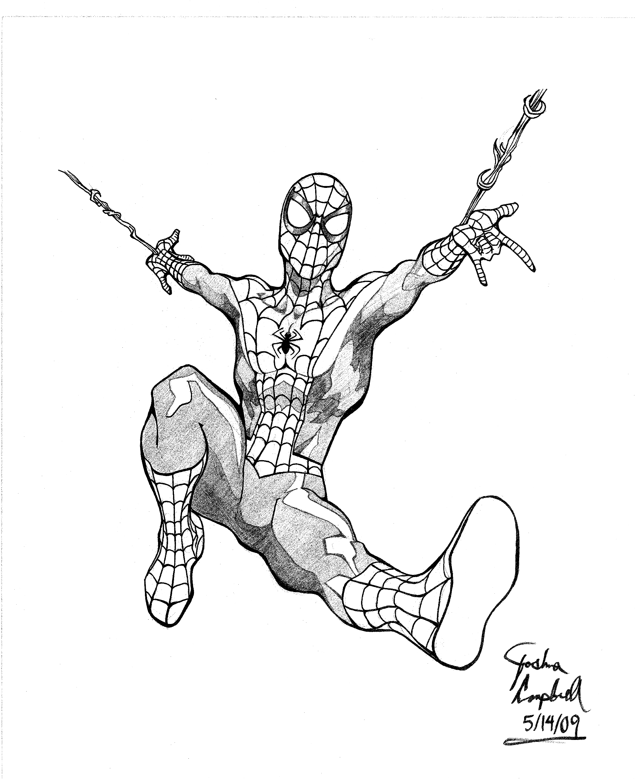 2033x2492 Spectacular Spider Man Drawing