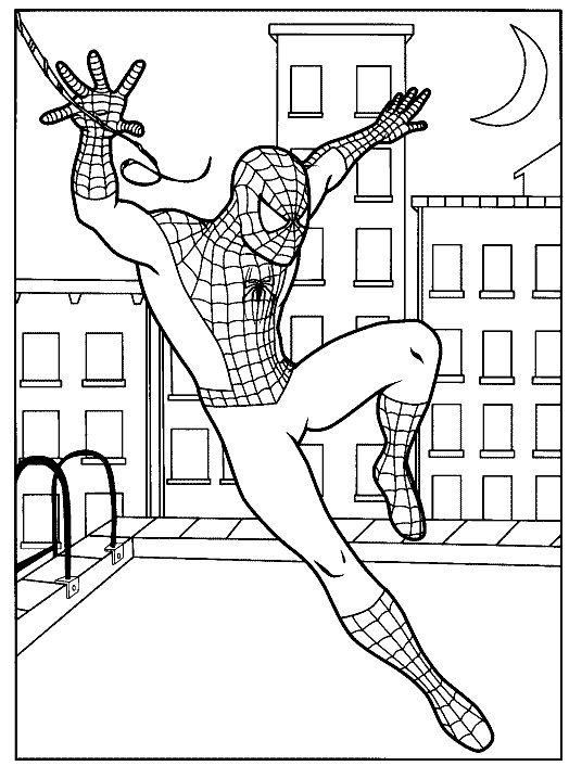 524x706 Spiderman Coloring Pages Page Free